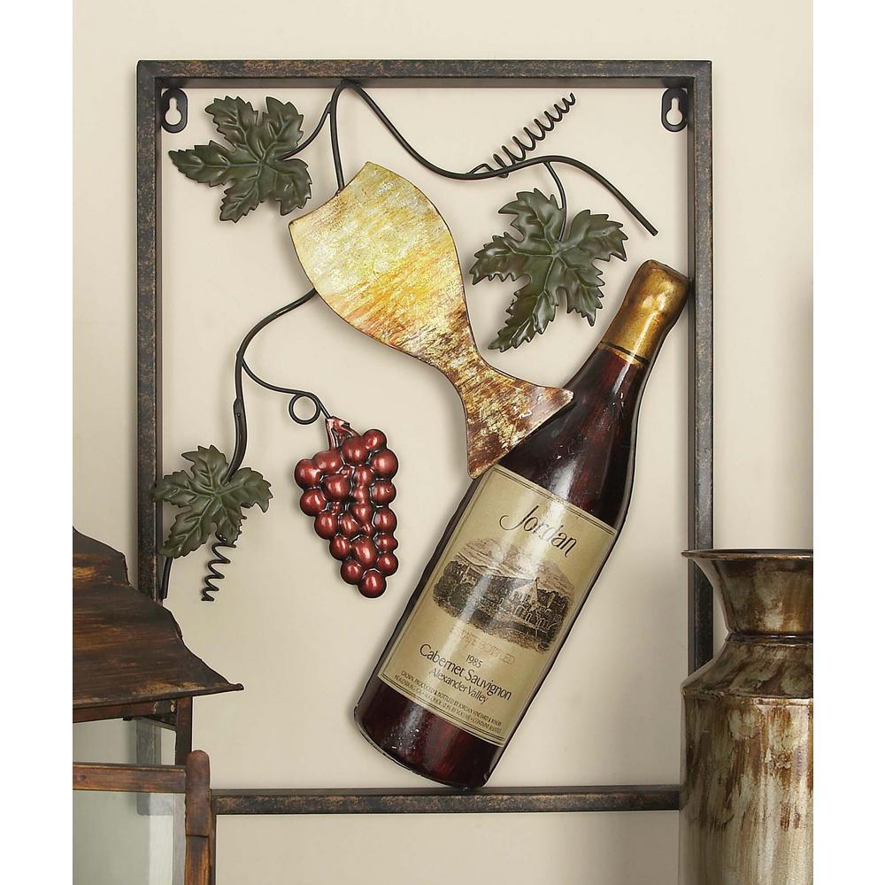 Wine series metal wall art set of multi arte de pared vinos