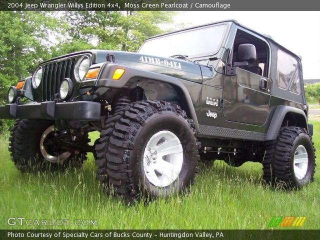 Moss Green Pearlcoat 2004 Jeep Wrangler Willys Edition 4x4 Camouflage Interior Gtcarlot Com Vehicle Jeep Wrangler 2004 Jeep Wrangler Jeep Wrangler Girl