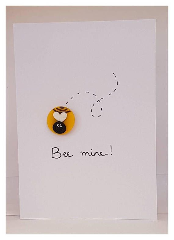 handmade quirky 'bee mine'  love  valentine's card