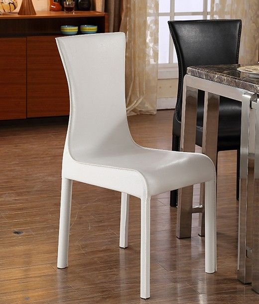 MYBESTFURN Simple PU Leather Chairs for dining table set cheap
