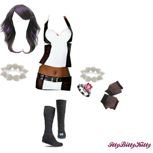 Wwe diva attire idea 3 by ittybittykittyy on polyvore for Diva attire