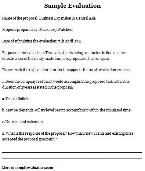 Sample Evaluation Sample Evaluation Form Evaluation Form Evaluation Training Evaluation Form