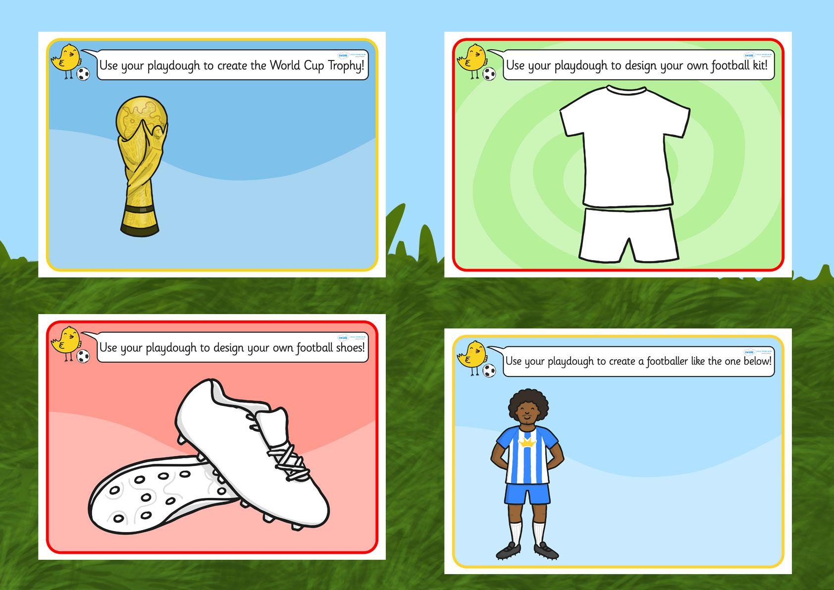 football world cup playdough mats preschool sports pinterest