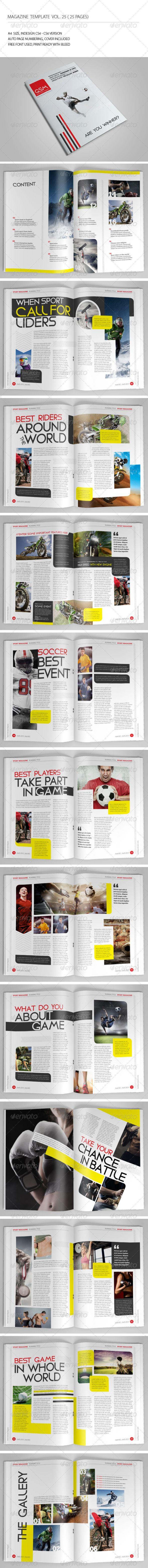 25 Pages Sport Magazine Vol25 Pinterest