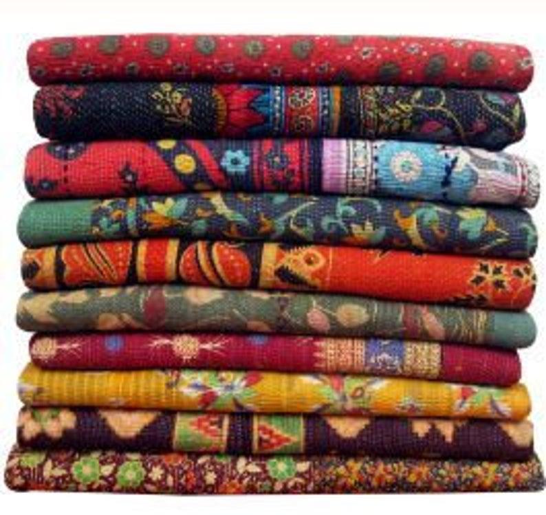 Fair Trade Kantha Throw Wholesale 3pc Set Vintage Kantha Gudri Baby Blanket Vintage Kantha Quilts Vintage Kantha Kantha Throw