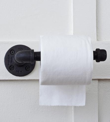 Reclaimed Plumbing Pipe Toilet Paper Holder