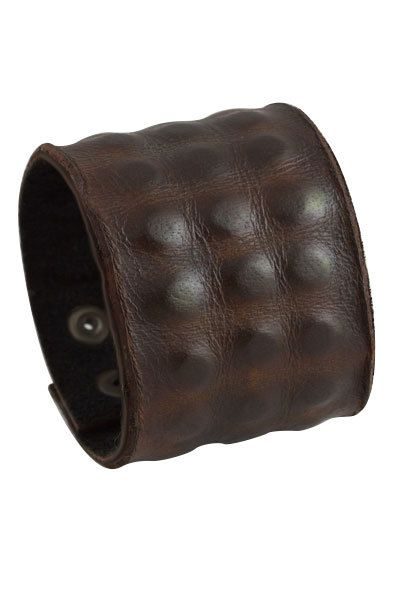 b3ef55127d4 Wide Leather Cuff Bracelet for Men, Chunky Rough Leather Bracelet , Men's  Handmade Brown Leather Wristband with Alligator Skin Texture