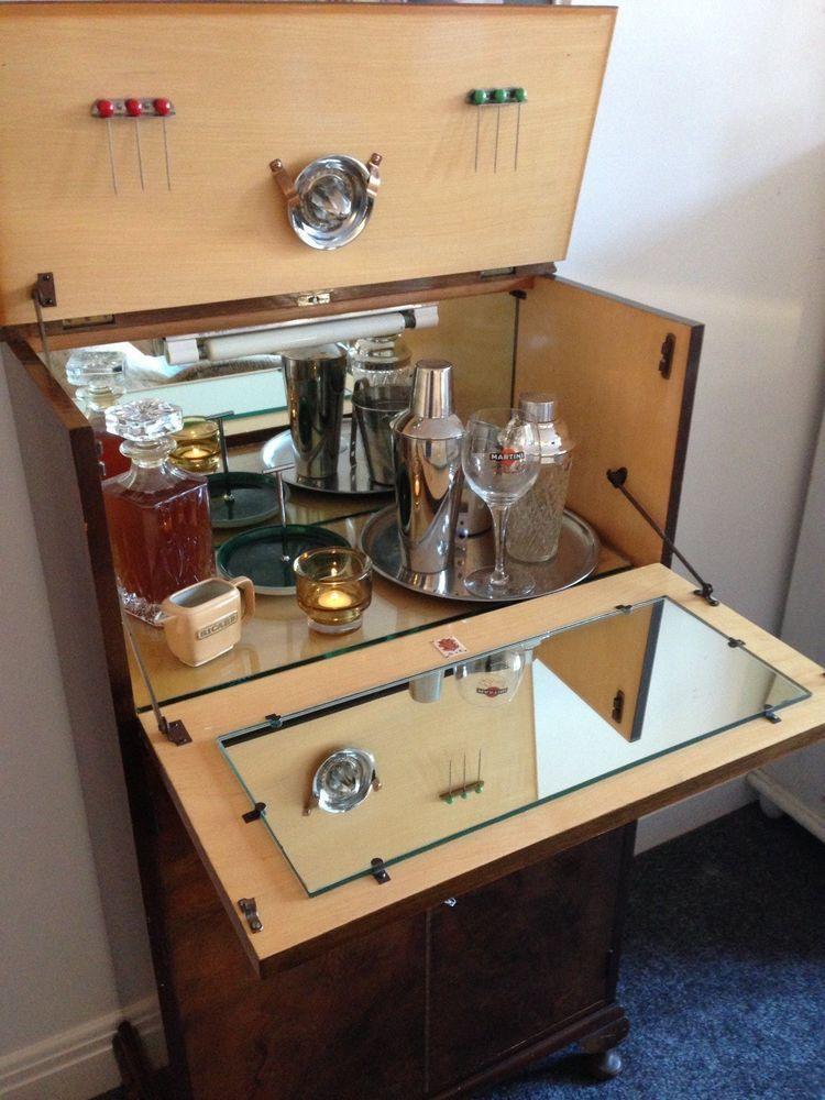 1940s Vintage Cocktail Cabinet Cocktail Cabinet Cabinet Plans