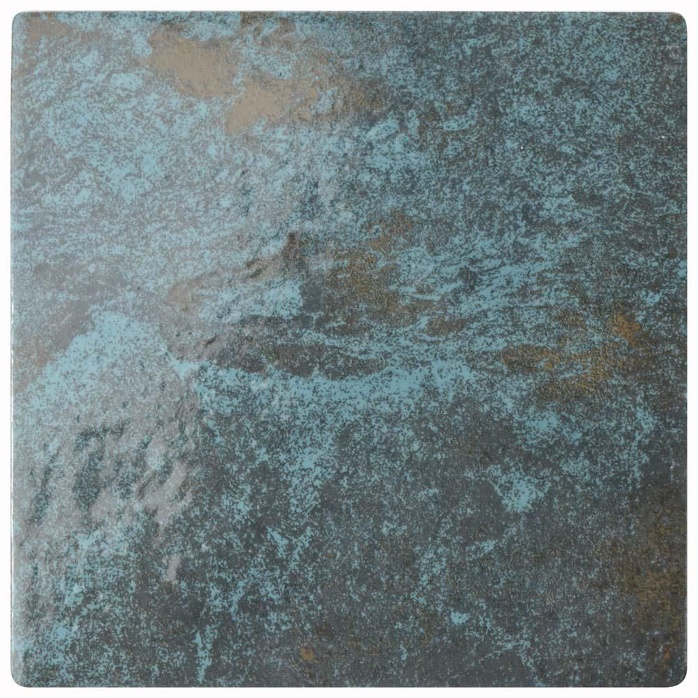 Merola Tile Ocean Green River 6 in. x 6 in. Porcelain Floor and Wall ...