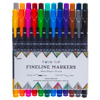 Twin Tip Fineline Markers 30 Piece Set Twin Tips Markers Tips