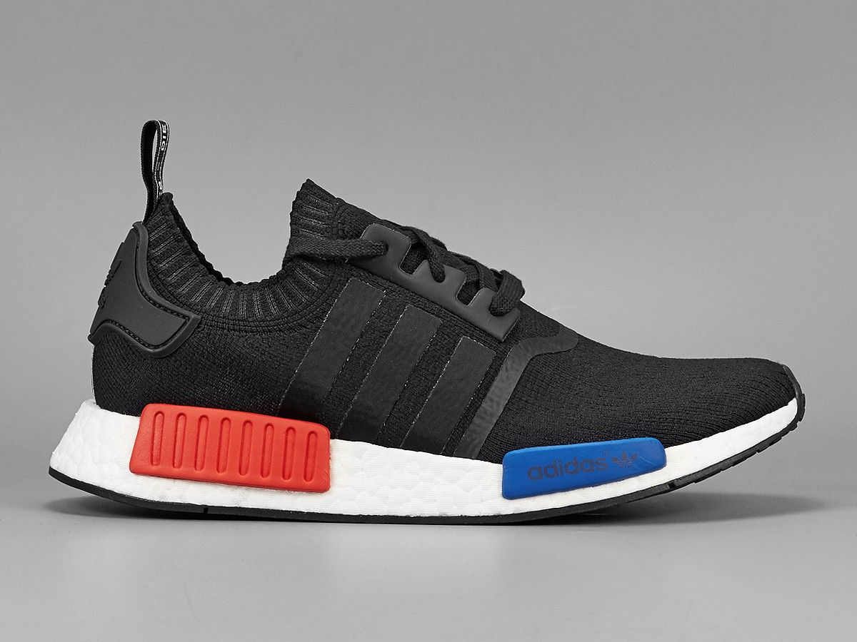 2016 adidas originals nmd runner primeknit pk core black mens