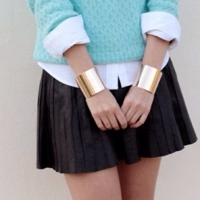 #gold #cuffs http://howtochic.blogspot.it/2014/01/gold-cuffs_18.html ❤ #HowToChic #fashion #style #stylish #love #TagsForLikes #me #cute #ph...