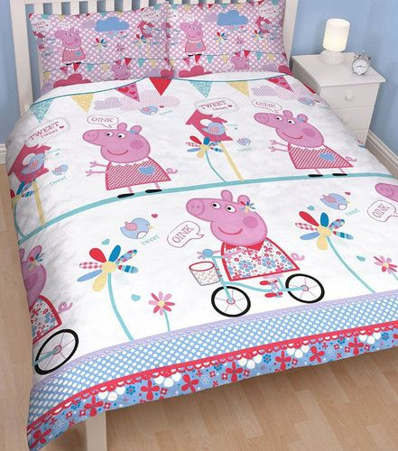 Peppa Pig Tweet Double Duvet And Pillowcases Girls Character Bedding Set Double Duvet Set Double Duvet Kids Bedding Sets