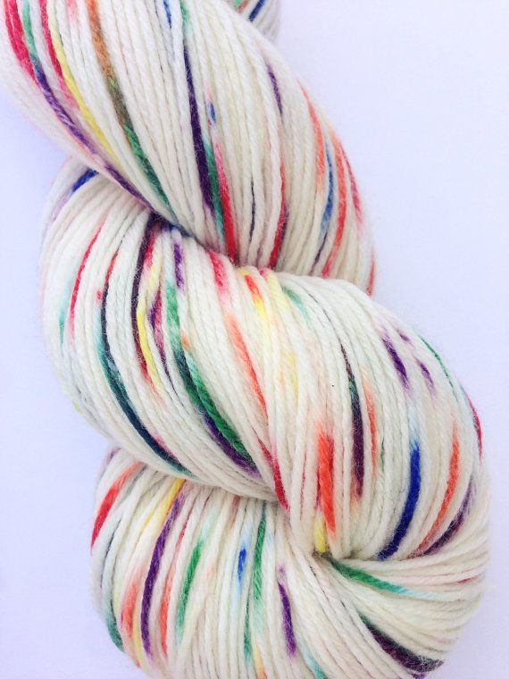 Hand Dyed Sock Yarn Knitting Yarn Merino Wool by KnitStitchYarn