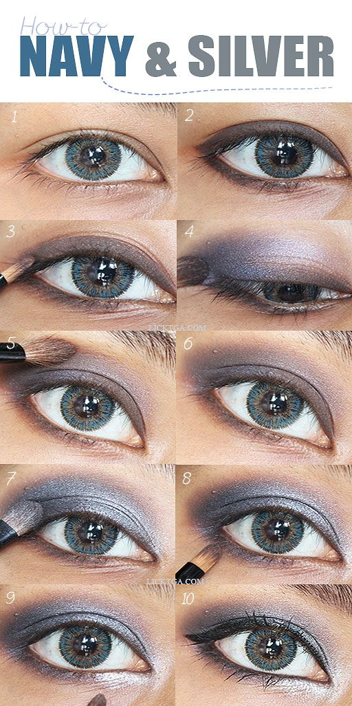 Navy Silver Eyes Makeup Good Idea For Prom Amazing Eye Deas