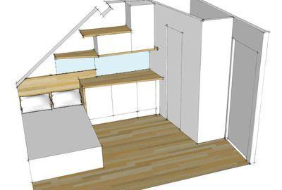 Am nagement studio paris 10m2 fonctionnels chambre de bonne am nagement studio et espaces - Amenagement chambre de bonne ...