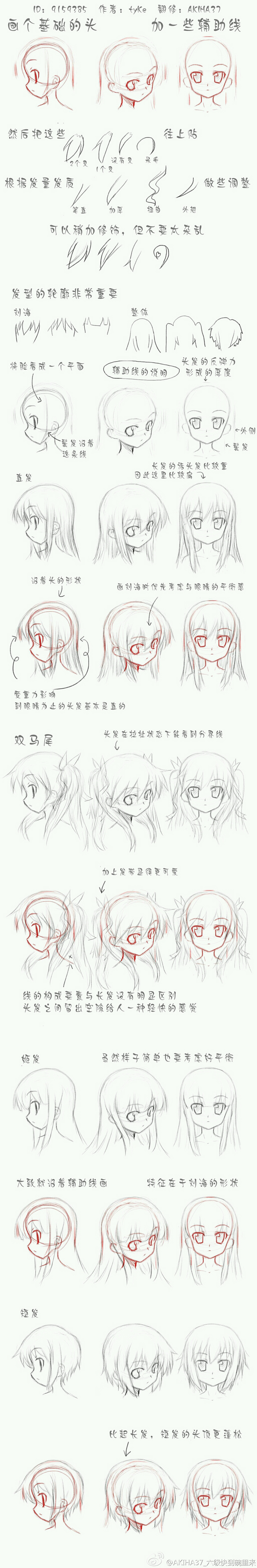 Drawing hair on a character How to Draw Hair