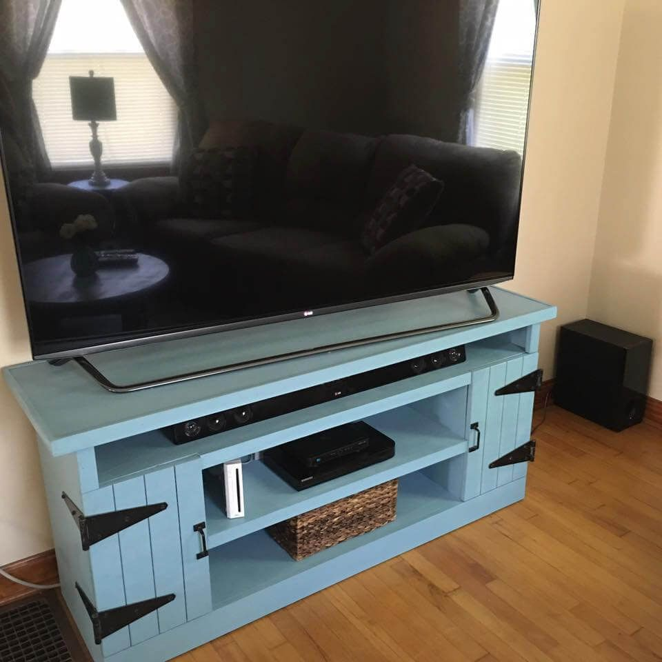 Diy Recycled Wooden Pallet Tv Stand Ideas Pallet Tv Stand  # Idee Meuble Tv Original