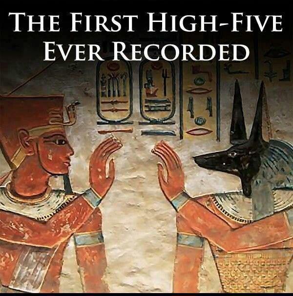High Five Art Memes History Humor High Five