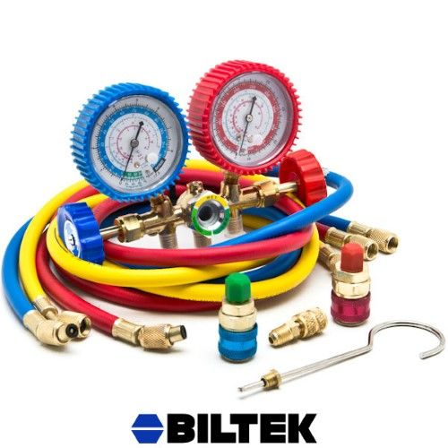 Biltek Nptc 560g 134 1l Hvac R12 R22 R502 A C Diagnostic Manifold Gauge Kit With Quick Coupler High Low Gauge Kit Hvac Gauges
