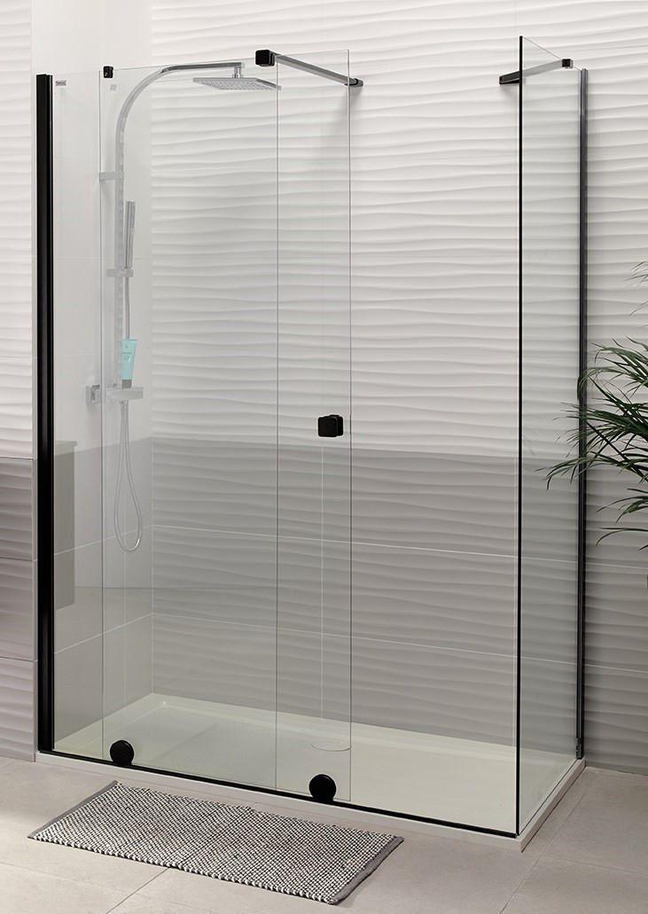 Paroi De Douche Coulissante Pureday Verre Timeless Profile Noir 120 Cm Gauche Alterna Sanitaire Ce Shower Wall Bathroom Inspiration Sliding Shower Screens