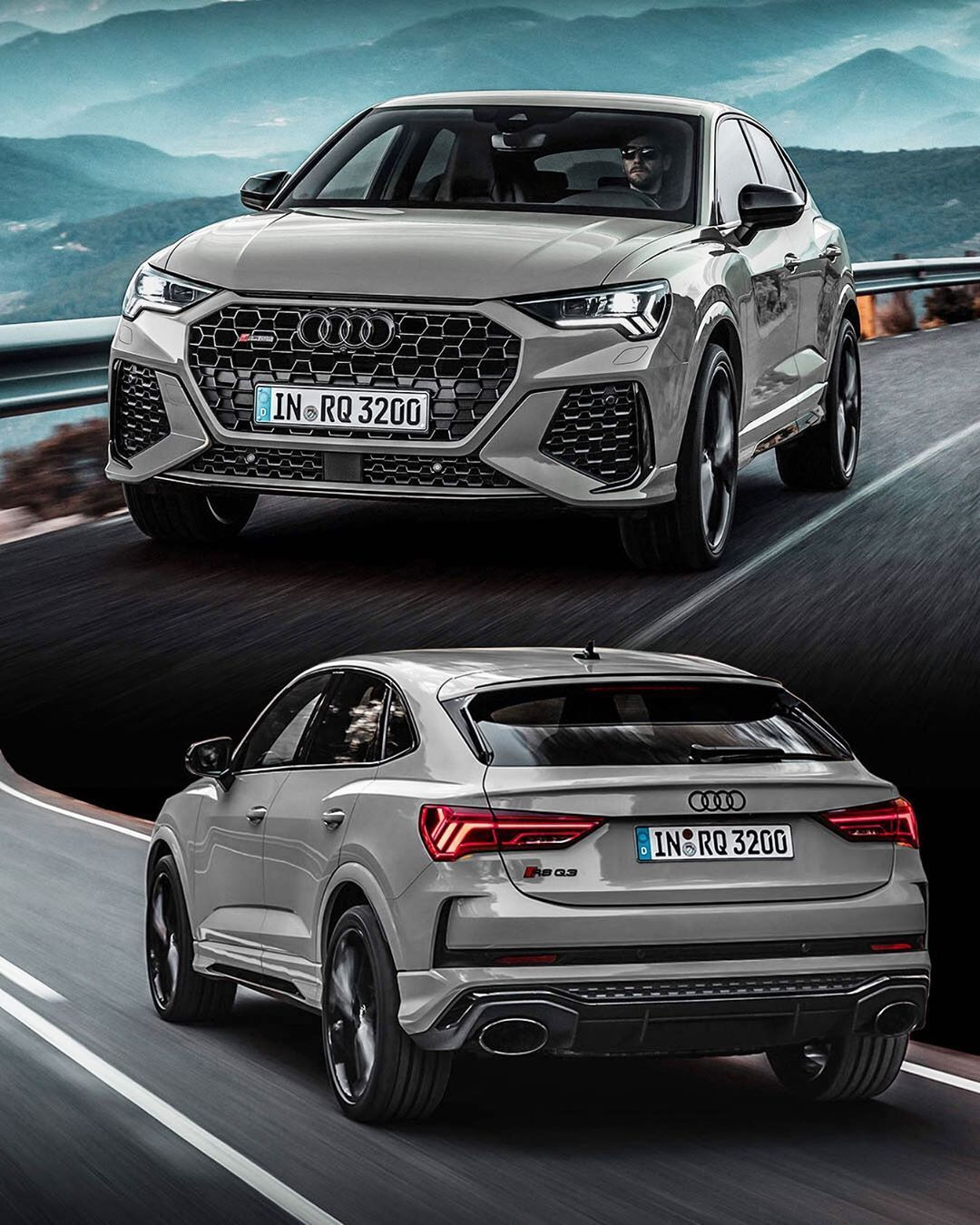 Seat Belt Mounted On Instagram Rsq3 Sportback Did Another Edit This Time In Nardo Grey What Do You Think About It In 2020 Audi Rsq3 Audi Q3 Audi Suv