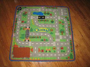Childrens Tonka 39 1 2 X Play Mat Road Carpet Rug For Cars Trucks Ebay