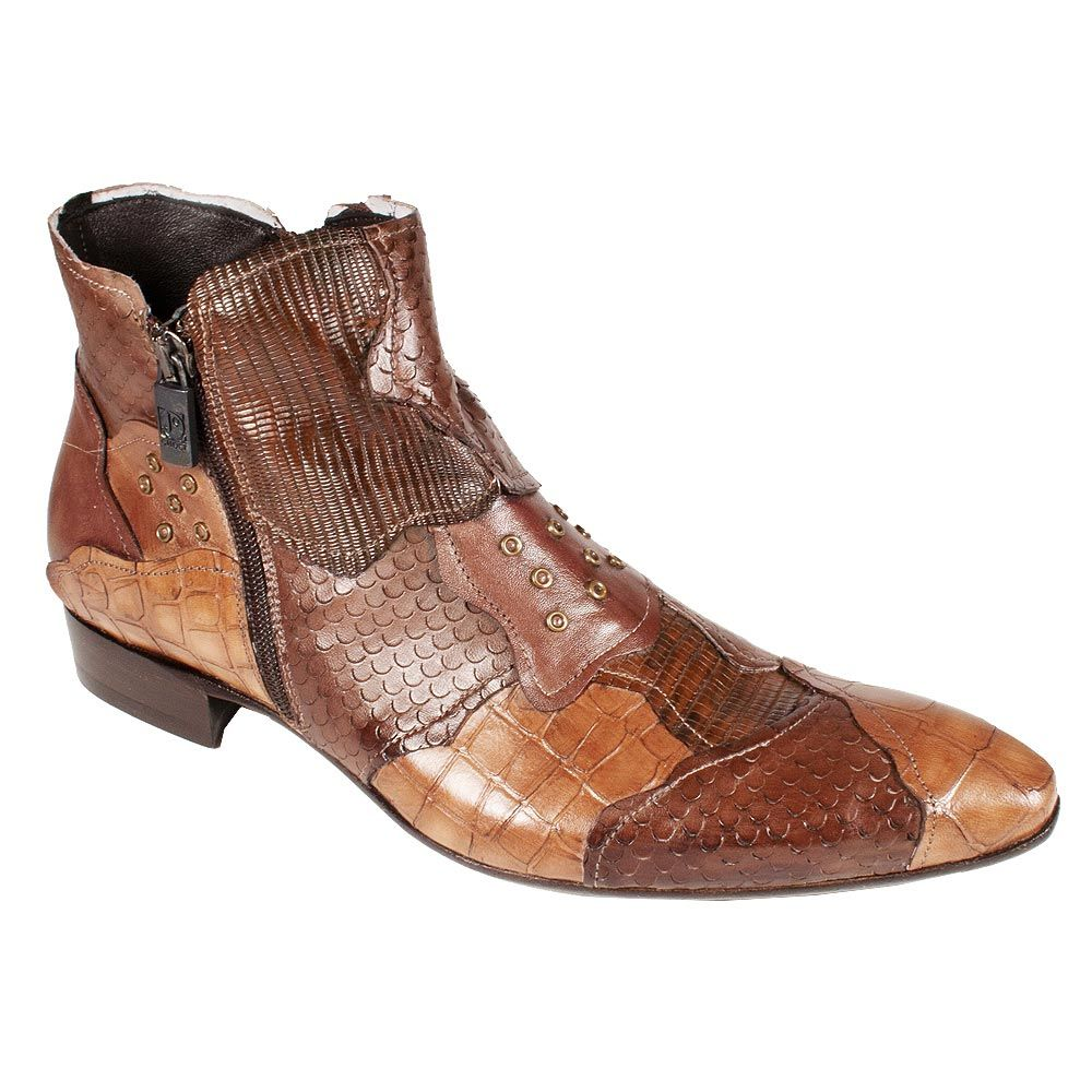 Jo Ghost Mens Shoes MultiColor Exotic Skin Boots M JG in