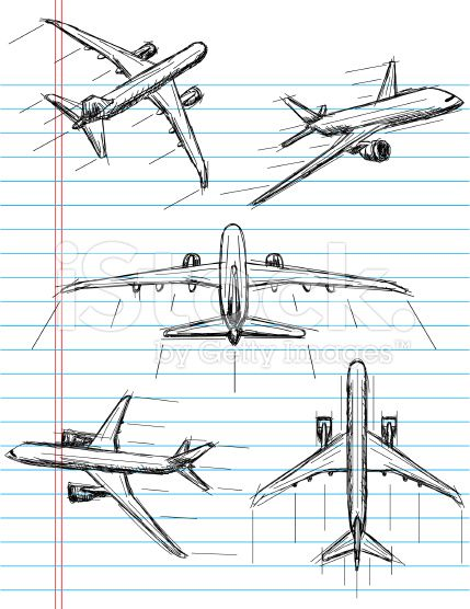 Airplane Sketch Illustration Google Search Skin Decor