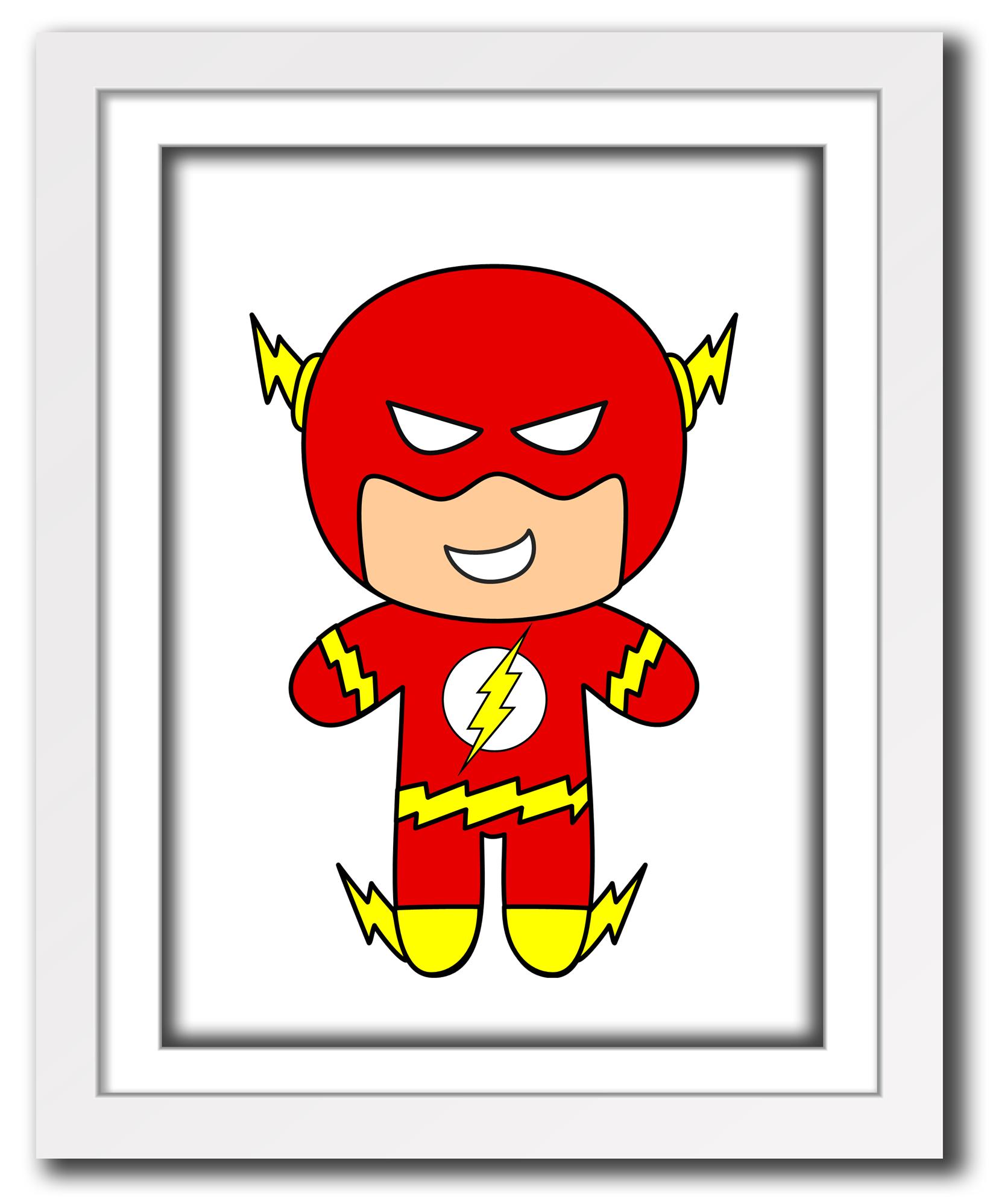 Superhero Flash print for little boys room or nursery ...