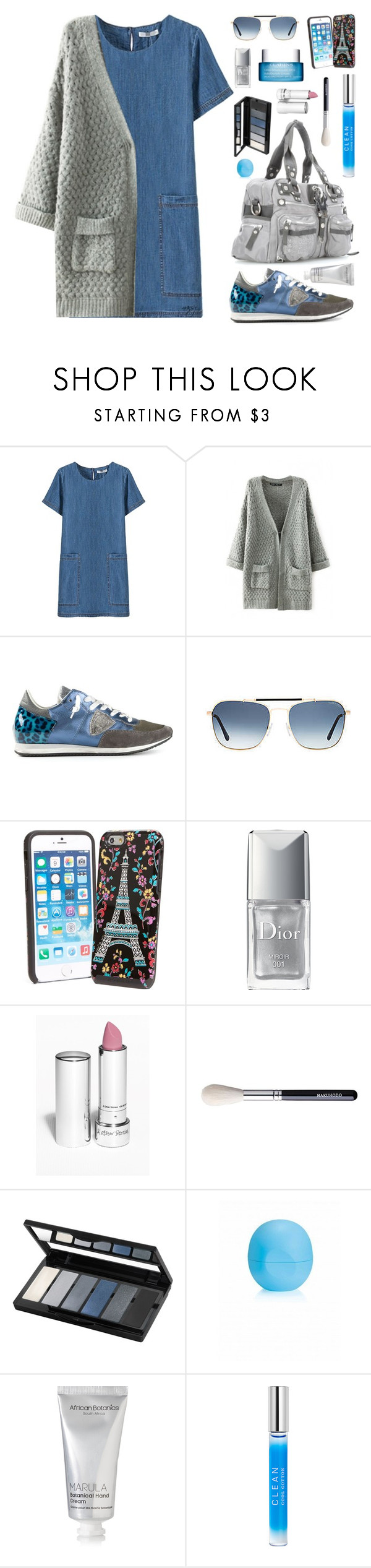 """""""Shop Till You Drop"""" by nansg ❤ liked on Polyvore featuring Philippe Model, George Gina & Lucy, Tom Ford, Vera Bradley, Christian Dior, Isadora, African Botanics, CLEAN, Clarins and beautifulhalo"""