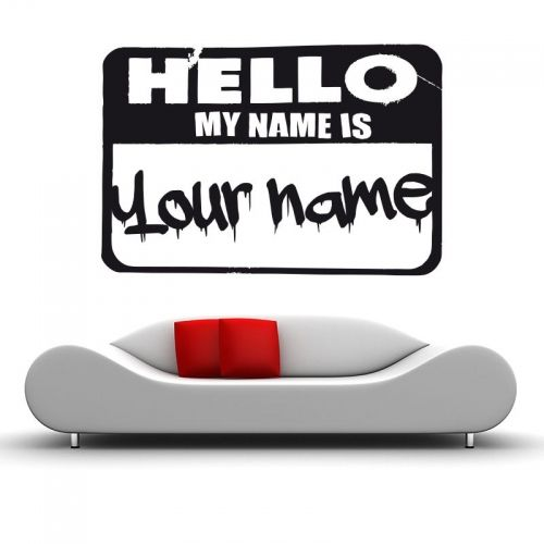 www.stickurz.com, Urban, City, Graff, Hello My Name Is, Your Name, Sticker, Design, Decoration, Wall Decal, Typography, Wall Tattoo, Street Art