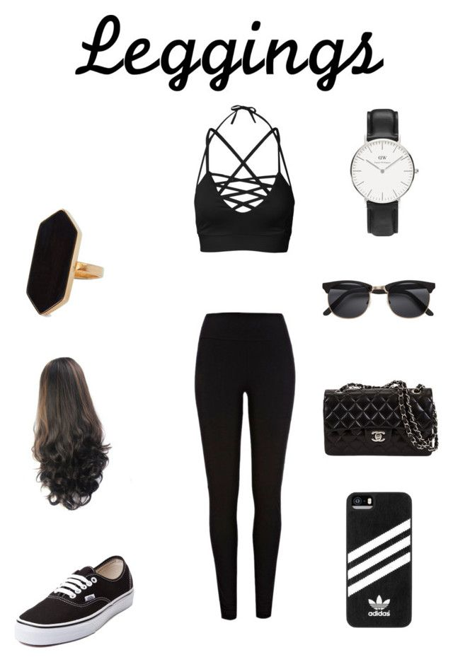 """Leggings style "" by explorer-14657557446 ❤ liked on Polyvore featuring River Island, Vans, Jaeger, Daniel Wellington, adidas, Leggings and WardrobeStaples"