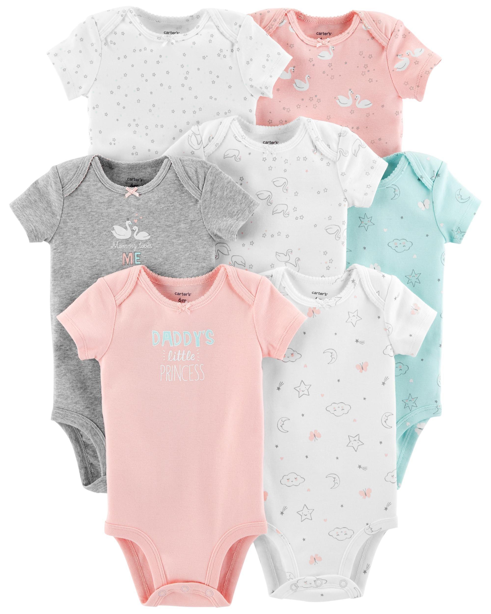ba1d85b78 7-Pack Short-Sleeve Original Bodysuits | Baby checklist | Carters ...