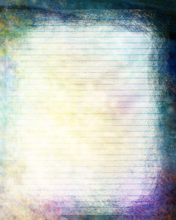 Printable Journal Page Color Blue 8 x 10 JPG Download by InkedInk