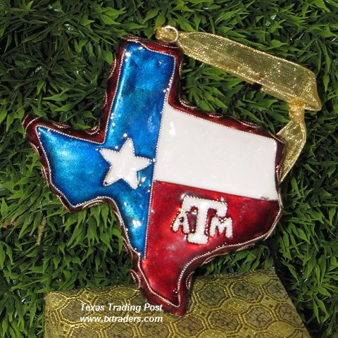 state shaped christmas ornaments shaped texas a m ornament texas a m cloisonne year round ornament - Texas Christmas Ornaments