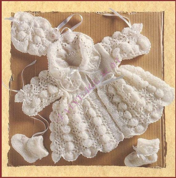 Pretty Baby 1st Size Shell Lace Matinee Jacket Bonnet and ...