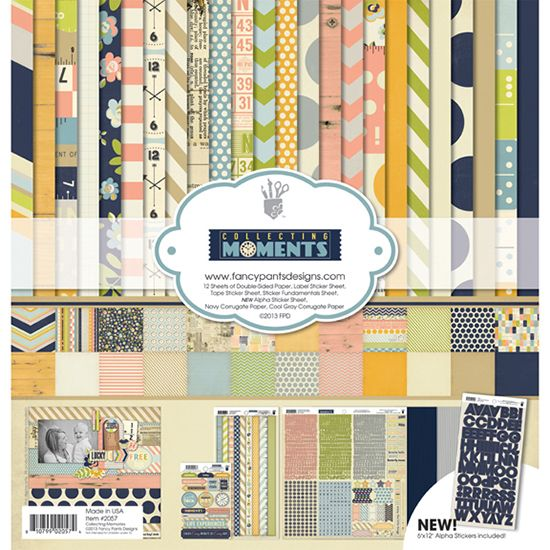 Fancy Pants Designs - Collecting Moments Collection - 12 x 12 Paper Kit at Scrapbook.com
