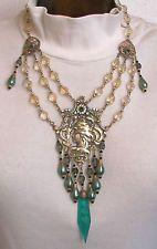 Czech soft rose glass beads necklace