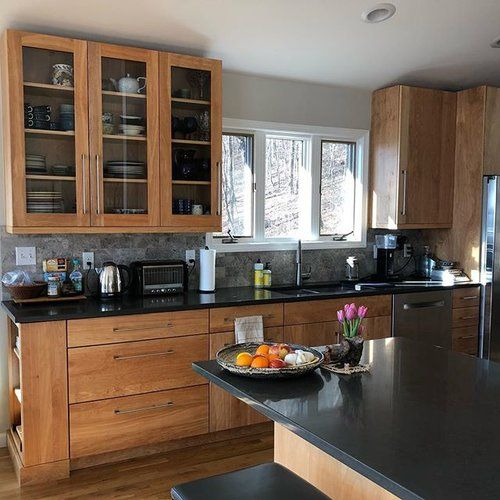 Red Birch Kitchen Cabinets: Going Against The Grain With This Unstained, Red Birch