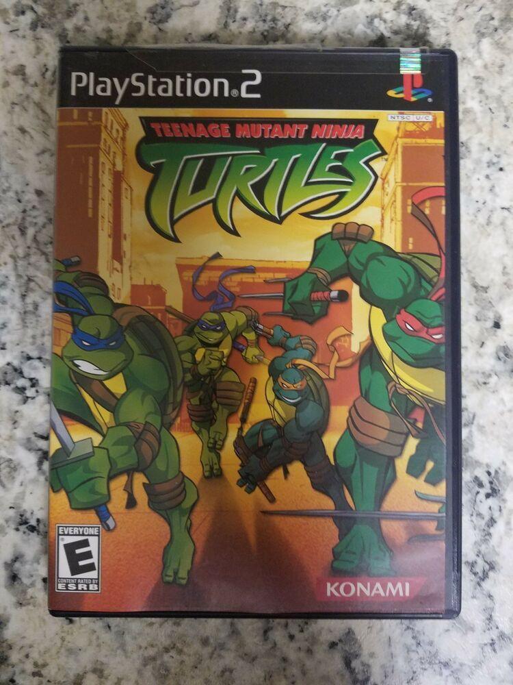 Teenage Mutant Ninja Turtles Sony Playstation 2 2003 Teenage Mutant Ninja Turtles Mutant Playstation