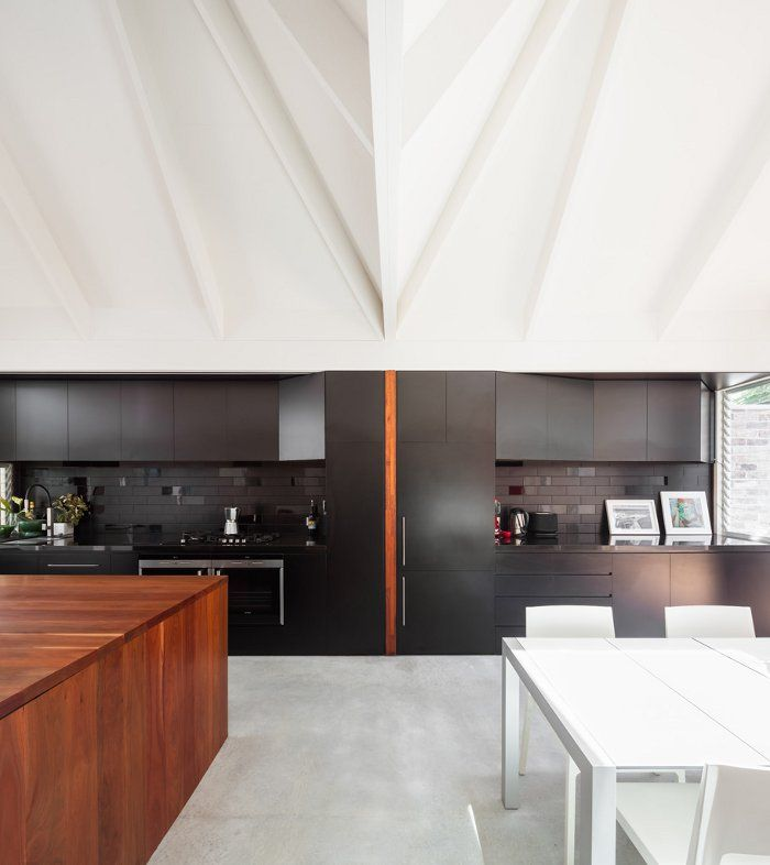 Slick Modern Kitchen With High Ceilings  Kitchens Ceilings And Alluring Kitchen Designs With High Ceilings Inspiration