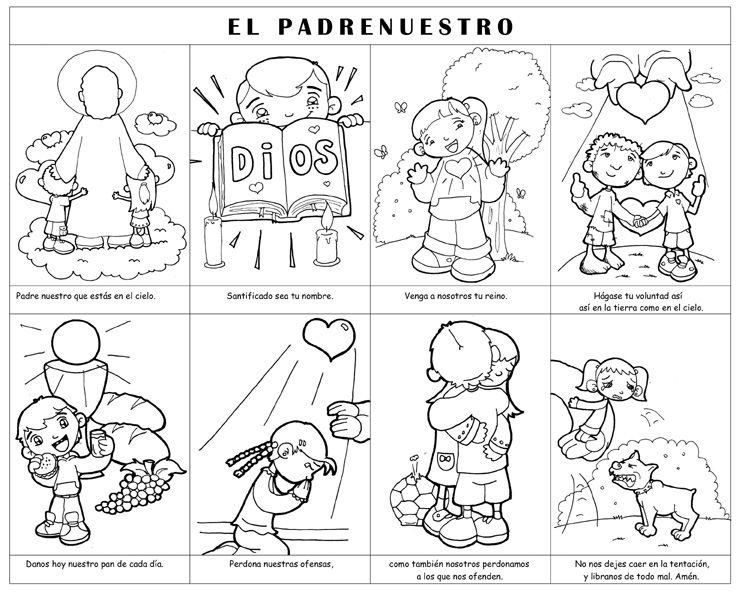 Resultado de imagen de dibujos del Padrenuestro de Fano para colorear