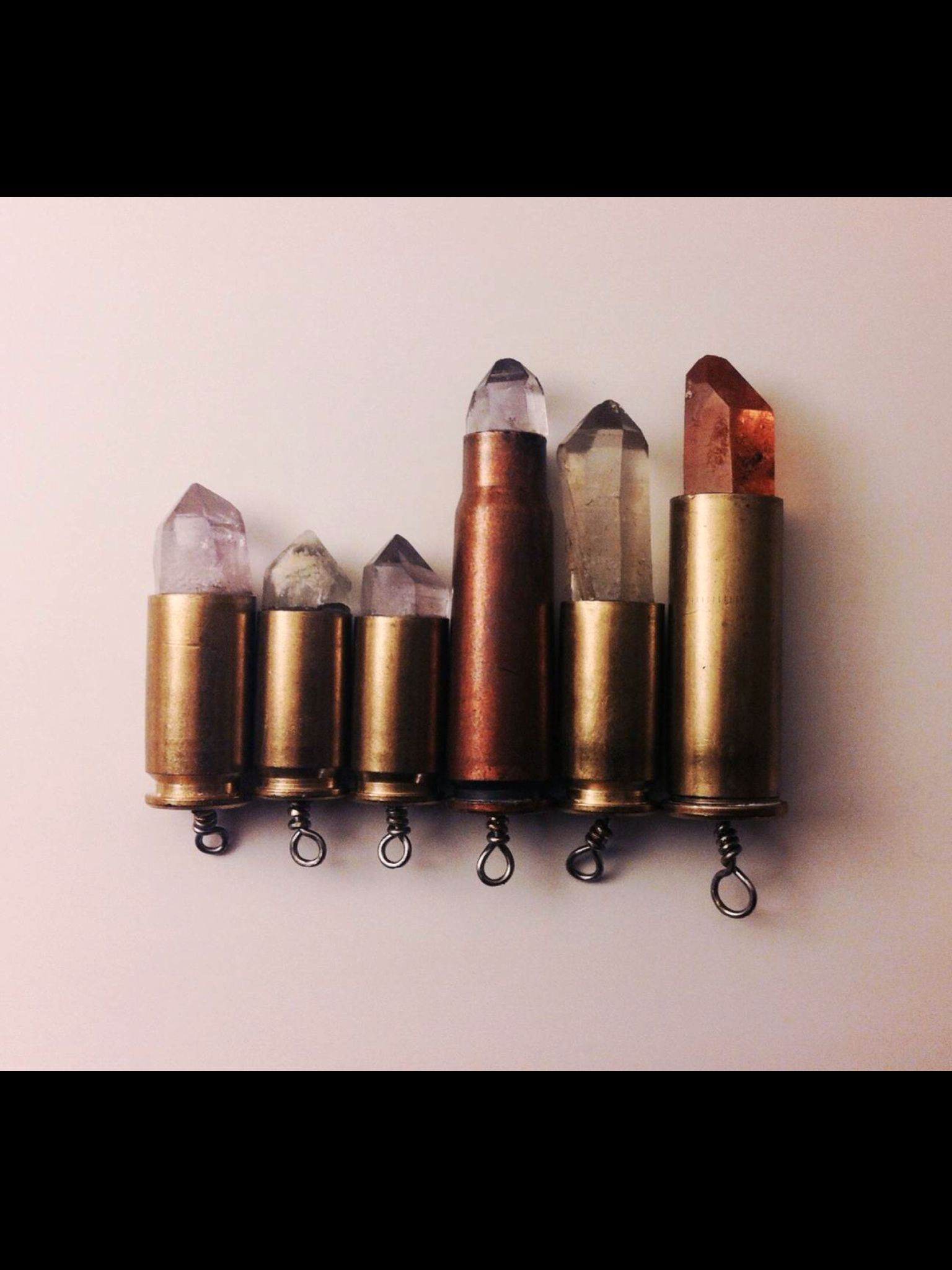Custom made bullet necklaces :)