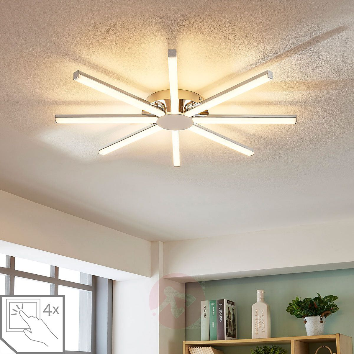 Korona Sun Shaped Led Ceiling Lamp Dimmable In 2020 Ceiling Lamp Led Ceiling Lamp Led Ceiling