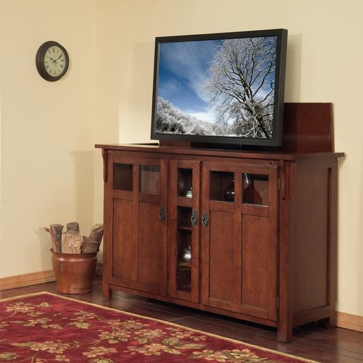 bungalow tv lift cabinet by touchstone home products cabinet includes mounts and features a motorized