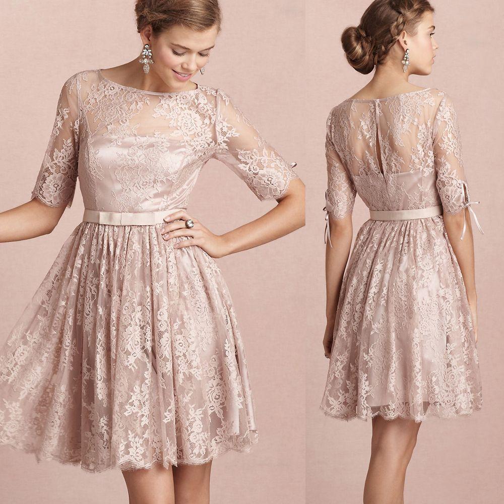 Sleeveless Knee Length Mermaid 2015 Fall Wedding Guest Dresses ...