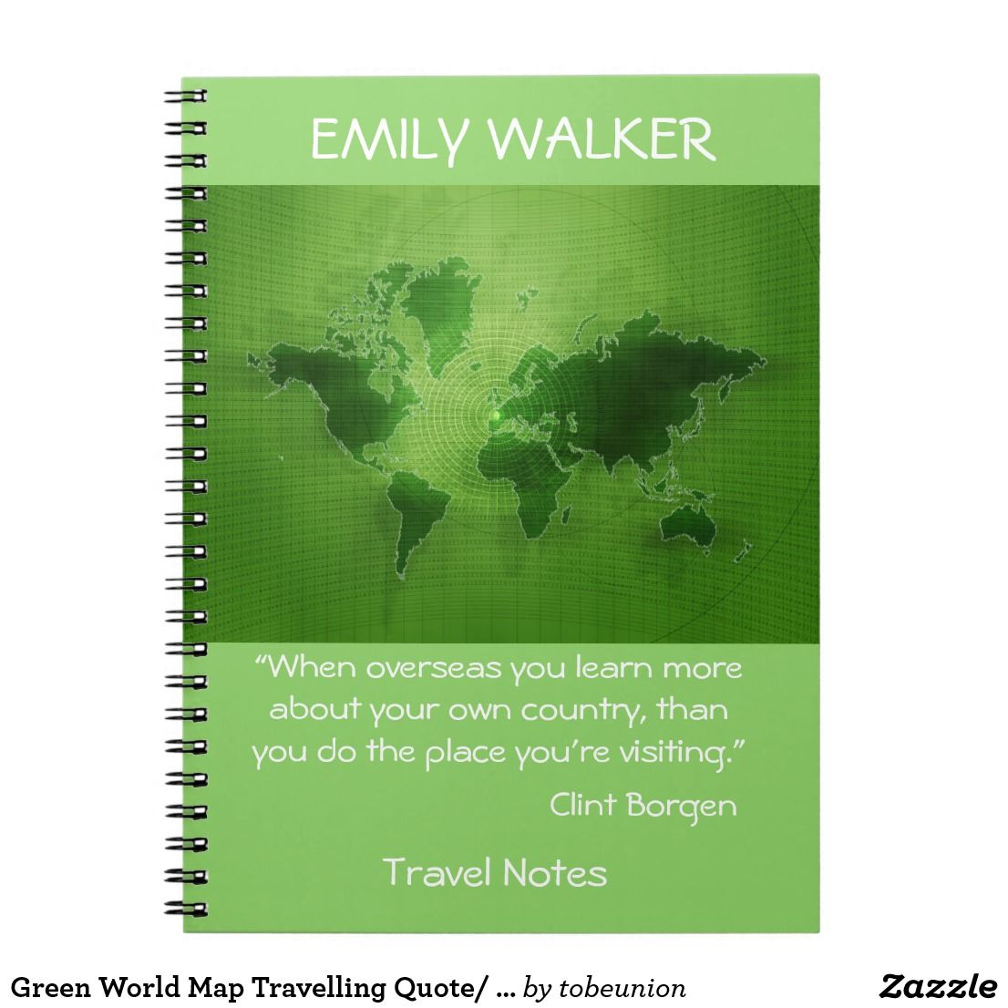 Green world map travelling quote saying notebook design by grypons green world map travelling quote saying notebook gumiabroncs Images