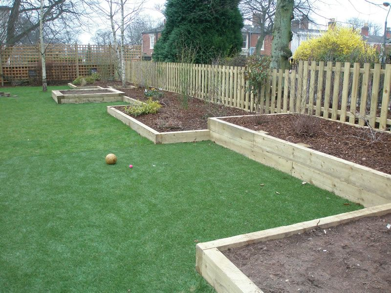 sleepers in gardens google search - Garden Ideas Using Sleepers