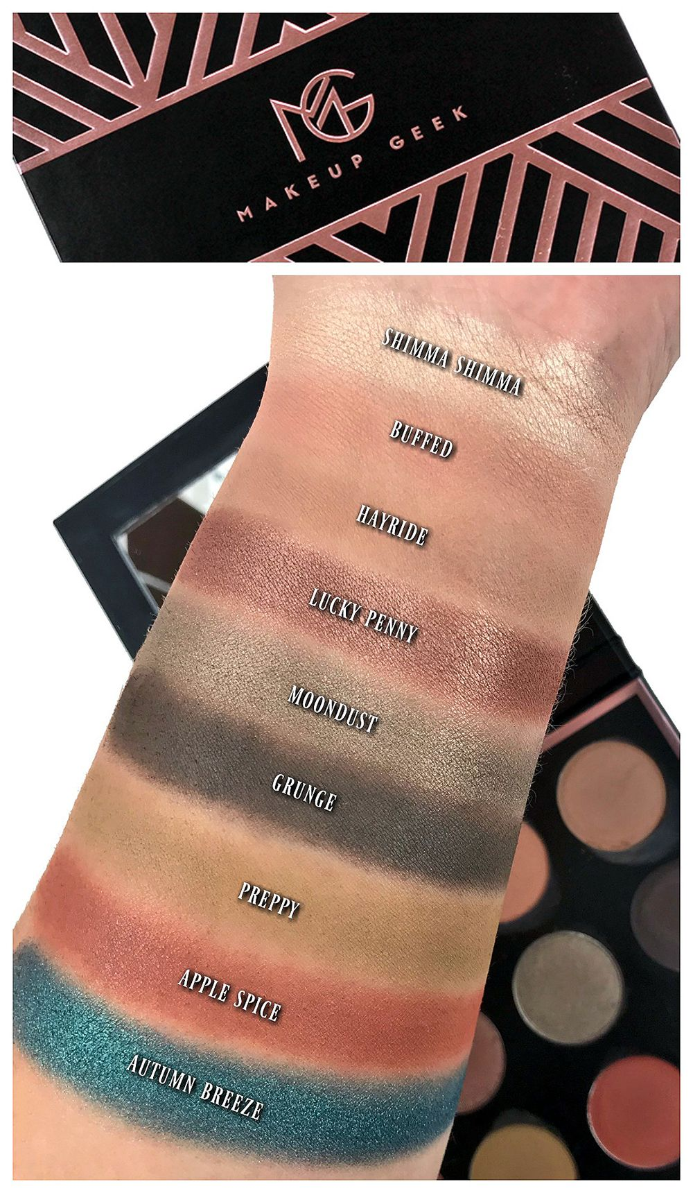 Makeup Geek Eyeshadow Swatches My Own Personal Fall